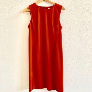Uniqlo Burnt Orange Sheath Dress Sz S